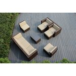 10 Piece Deep Seating Group with Cushions Fabric: Sunbrella Antique Beige