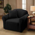 Jersey Chair Slipcover Upholstery: Black