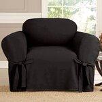 Chair Slipcover Upholstery: Black