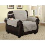 Armchair T-Cushion Upholstery: Grey
