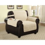Armchair T-Cushion Upholstery: Beige