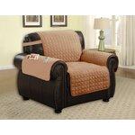 Armchair T-Cushion Upholstery: Camel