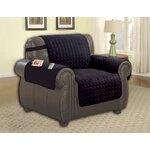 Armchair T-Cushion Upholstery: Black