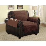 Armchair T-Cushion Upholstery: Brown