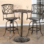 3 Piece Bistro Bar Table Set