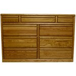 11 Drawer Dresser Finish: Coffee Alder