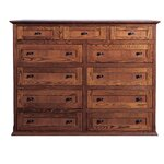 11 Drawer Dresser Finish: Chestnut Oak