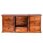 9 Drawer Dresser Finish: Red Oak
