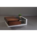 213 Plus Cartier Coffee Table Finish: White / Walnut