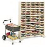 100 Pocket Mail Sorter with Caster Base Color: Putty