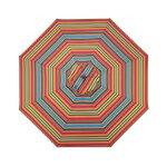 "1.5"" Octagonal Umbrella with Crank Arm Fabric: Fiesta Stripe"