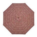 "1.5"" Octagonal Umbrella with Crank Arm Fabric: Brick Scroll"