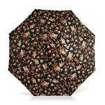 "1.5"" Octagonal Umbrella with Crank Arm Fabric: Black Floral"