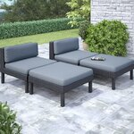 4 Piece Oakland Chaise Lounge with Cushion Set