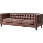Abbott Cigar Leather Sofa