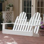 Adirondack Chair Swing Finish: Satin White