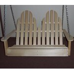 Adirondack Chair Swing Finish: Unfinished Aspen