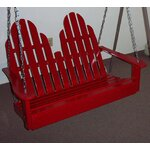 Adirondack Chair Swing Finish: Fire Engine Red