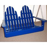 Adirondack Chair Swing Finish: Berry Blue
