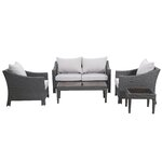 Aqueduct 5 Piece Deep Seating Group with Cushions Finish: Grey