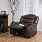 Mager Glider Recliner Upholstery: Dark Brown