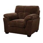 Arm Chair Upholstery: Mocha Brown