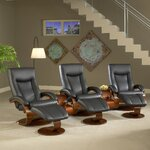 54 Home Theater Recliner (Row of 3)