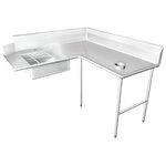 "60"" x 84"" Single Dishtable Size: 48"" x 60"""