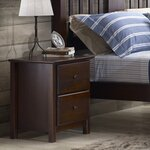 Shaker 2 Drawer Nightstand Finish: Cherry