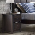 Shaker 2 Drawer Nightstand Finish: Espresso
