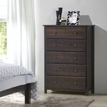 Shaker 5 Drawer Chest Finish: Expresso
