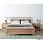 Loft Queen Platform Bed Upholstery: Acacia