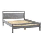Loft Queen Platform Bed Upholstery: Grey