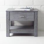 Loft 1 Drawer Nightstand Color: Brushed Grey