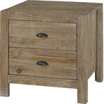 Montauk 2 Drawer Nightstand Finish: Driftwood
