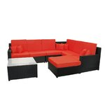 8 Piece Console Table Set Finish: Red
