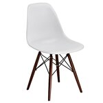 Abel Side Chair Finish: White/Brown
