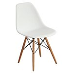 Abel Side Chair Finish: White/Natural