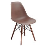 Abel Side Chair Finish: Brown/Brown
