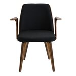 Bystrom Arm Chair Upholstery: Black