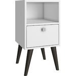Belardo 1 Drawer Nightstand Finish: White