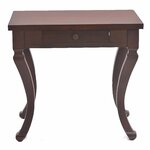 1 Drawer Side Table Finish: Brown