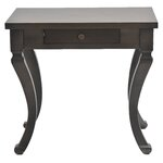 1 Drawer Side Table Finish: Saddle Brown