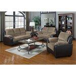 3 Piece Sofa Set Upholstery: Light Brown