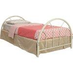 Makayla Twin Wrought Iron Bed Finish: White