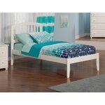 Extra Long Twin Slat Bed Finish: White