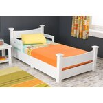 KidKraft Addison Toddler Bed Finish: White, Size: Toddler