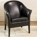 1404 Club Chair Upholstery: Black