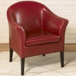 1404 Club Chair Upholstery: Red