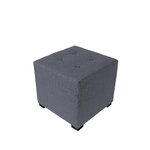 4 Button Tufted Ottoman Upholstery: Dark Gray